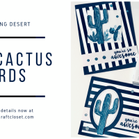 Blue Cactus Card - You're So Awesome!