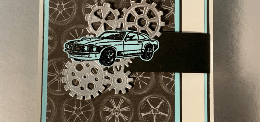 Car flap card with gears