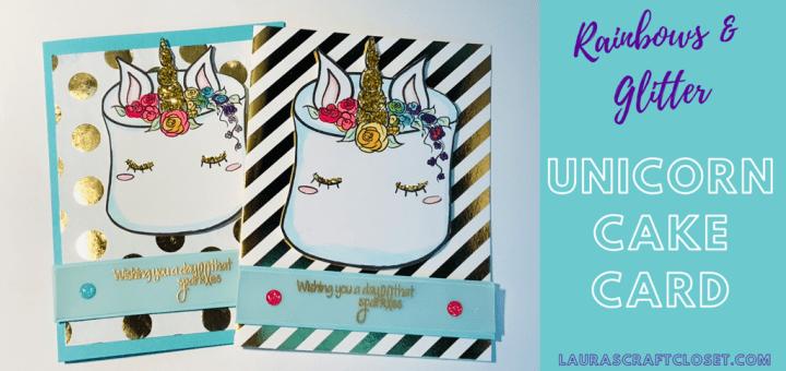 Unicorn cake card digi twitter
