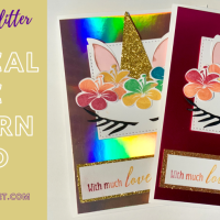 Unicorn Cake Card from Tropical Chic Die-Cuts!