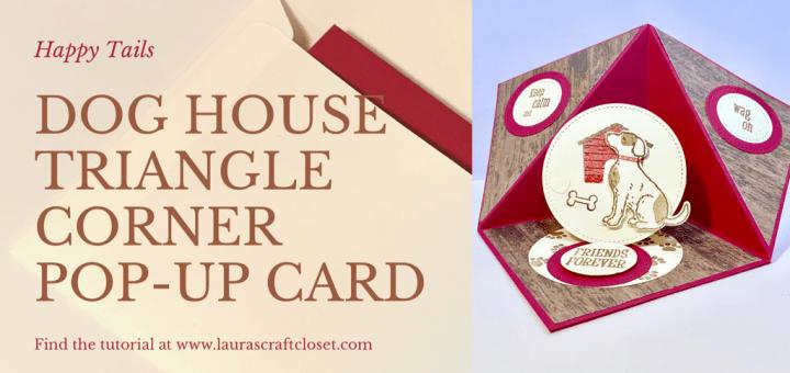 dog house triangle corner pop-up card
