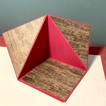 Tent fold card undecorated