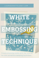 White embossing technique bird ballad pinterest