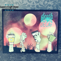 Death Before Decaf Coffee Zombie Card
