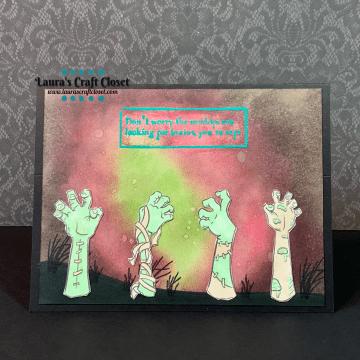 Oddball snarky zombie card