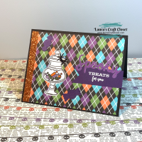 Halloween Candy Jar Card - Peek Out Stamp Window