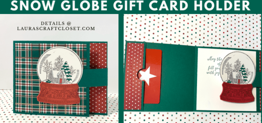 Snow globe gift card holder