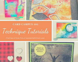 Card Campus 101 Card-making techniques list