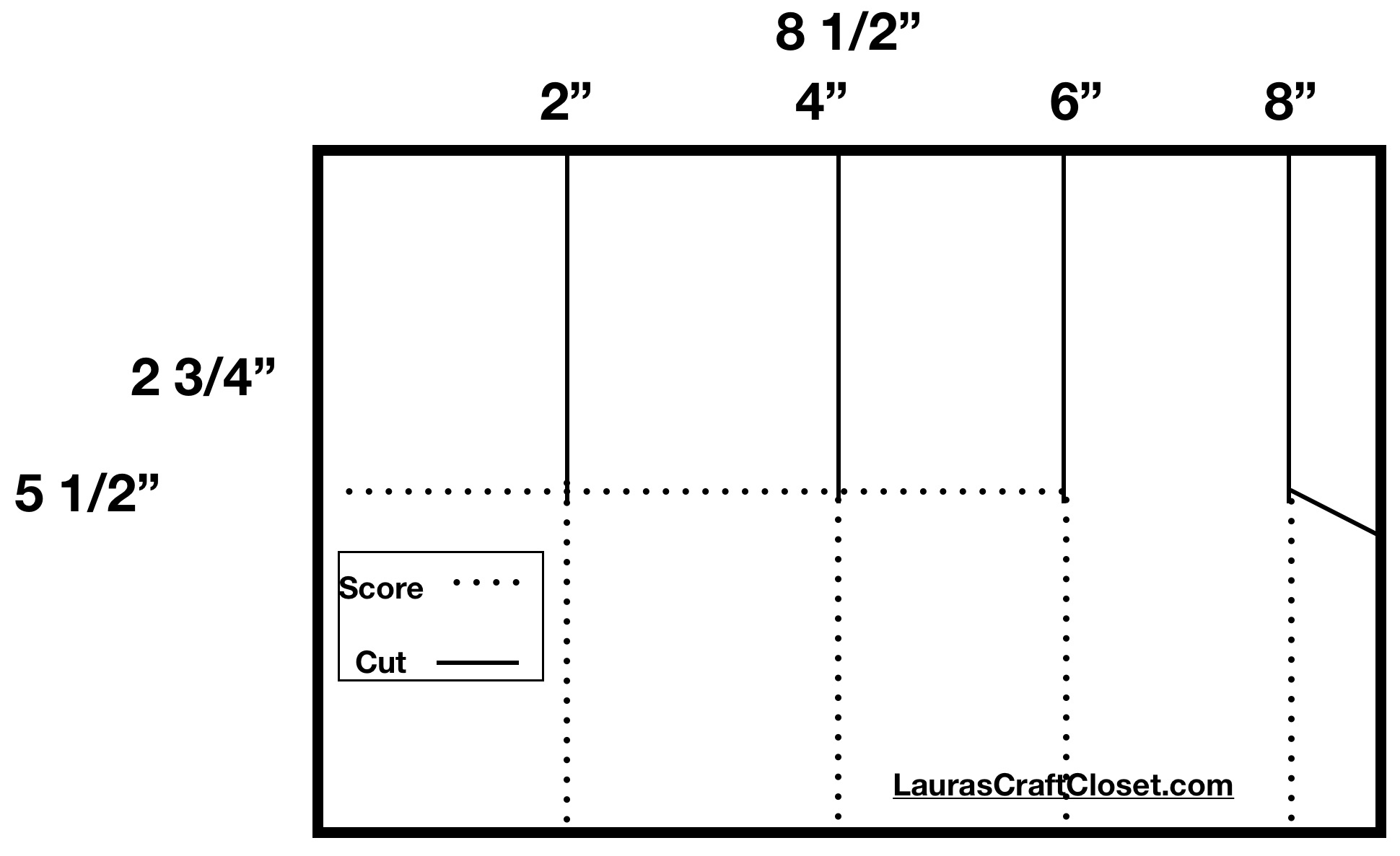 Pop up box measurements