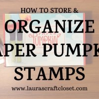 Storage and Organization of Paper Pumpkin Stamps