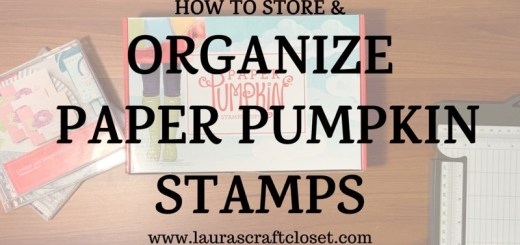 Paper pumpkin organization video