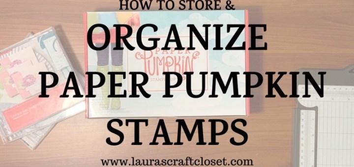 Paper pumpkin organization video