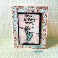 Embossing Trick for Vellum Mother's Day Card