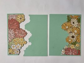 ornate garden vellum card cut flowers step 2
