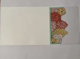 ornate garden vellum card cut flowers vellum to card front