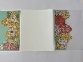 ornate garden vellum card cut flowers score your base