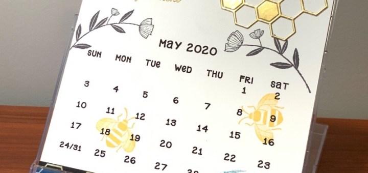 honey bee stamp calendar