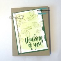 Rooted in Nature Watercolor Paper Tear Card