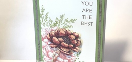 Layered flower thank you card tasteful touches stamp set