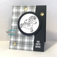 Black and White Zebra Birthday Card