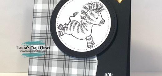 Black and white zebra birthday card