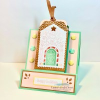 November Alternative Frame Card - Paper Pumpkin Gingerbread Gift Card Holder
