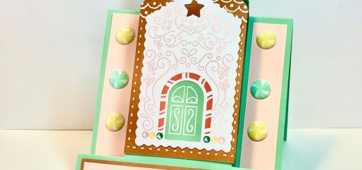 November paper pumpkin alternative card fun fold gingerbread house gift card holder frame card