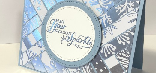 Easy herringbone card holiday scrap buster with feels like frost dsp