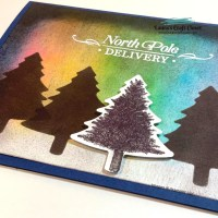Northern Lights Technique Christmas Card