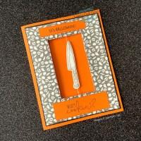 Halloween Knife Spinner Card