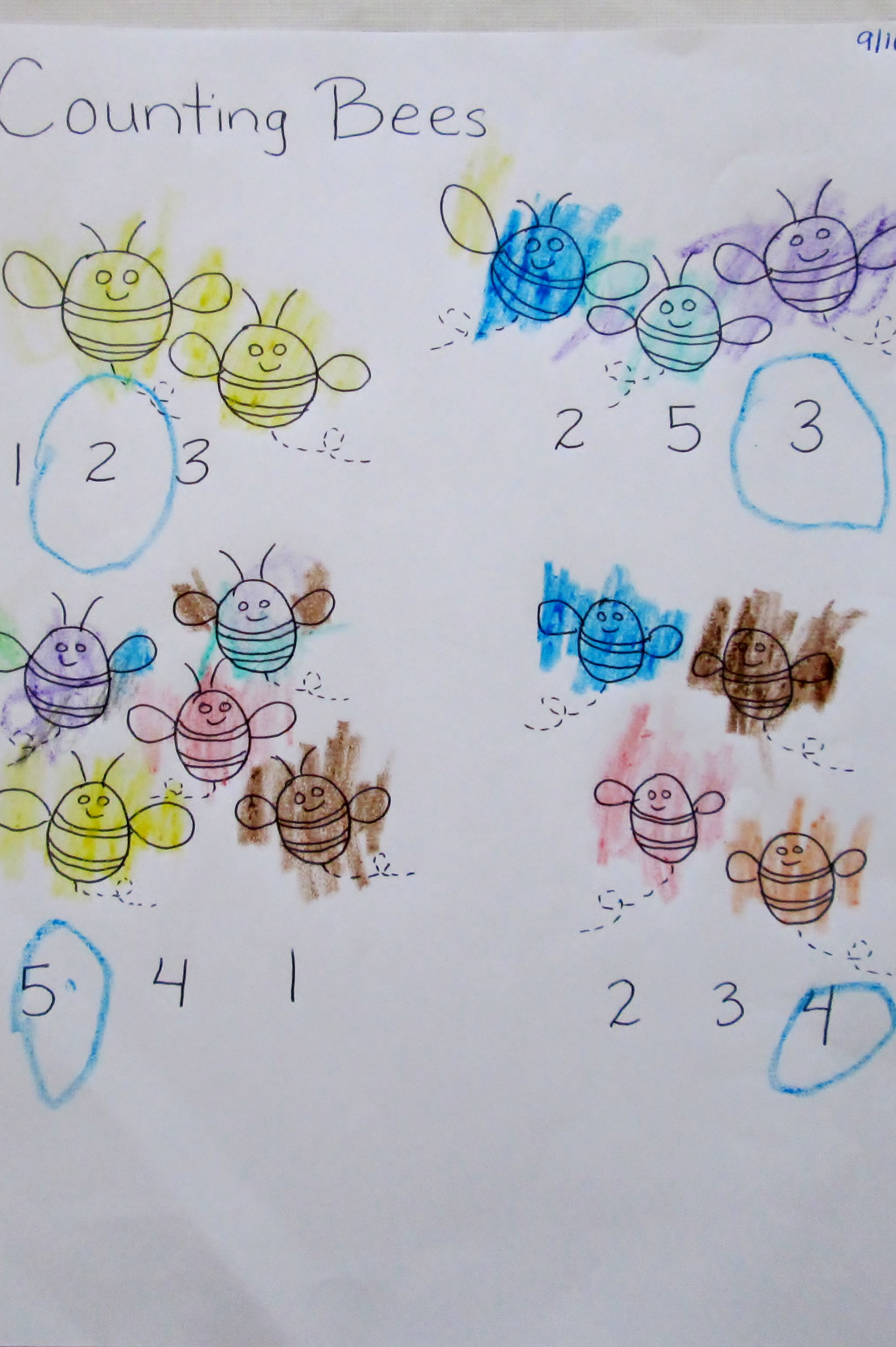 Counting Insects Worksheets