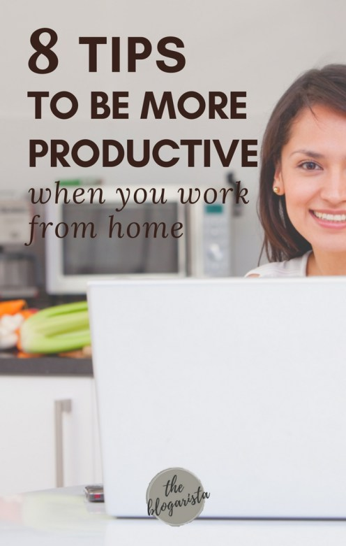 8 tips to be more productive when you work from home.