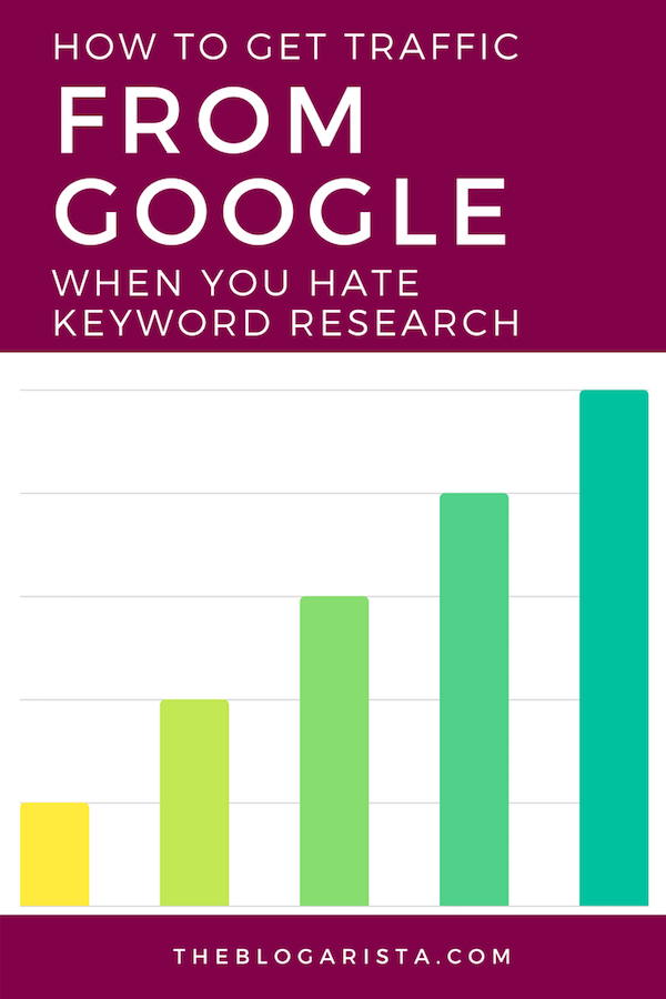 Tired of trying to figure out the best keywords when you just want to blog? Check out these quick tips for getting more search traffic without having to do any keyword research.