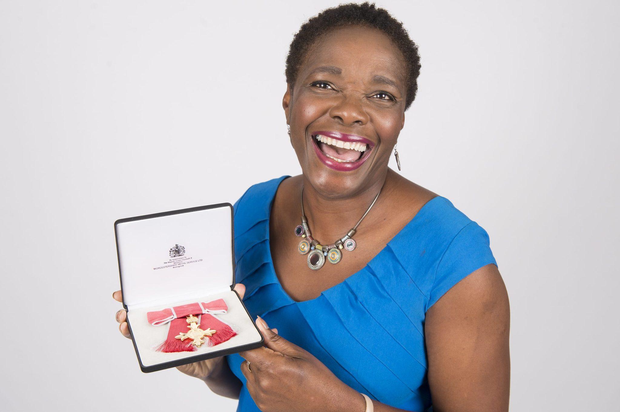 Laura Serrant receives her OBE