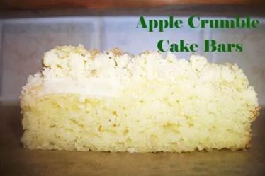 apple crumble cake bars