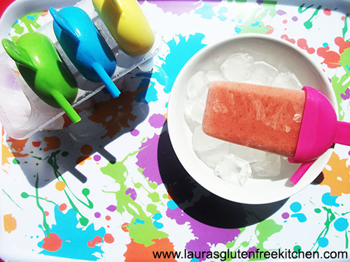 strawberry and fruit pops