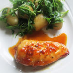 Gluten Free Marmalade Chicken with Rocket Potatoes