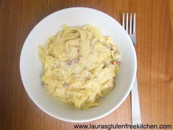 Gluten Free Creamy Sun Dried Tomato Pasta
