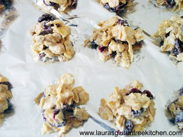 Gluten Free White Chocolate & Cranberry Clusters
