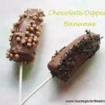 Gluten free Chocolate Dipped Bananas