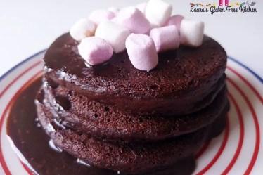 Gluten free Hot Chocolate Pancakes