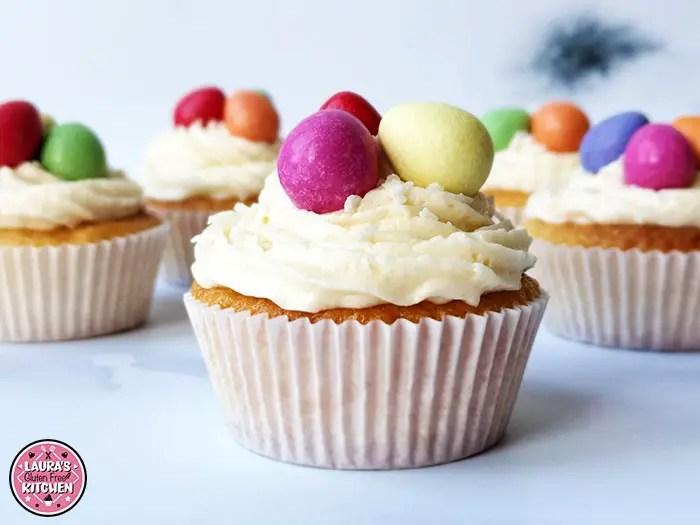 Gluten Free Easter Themed Vanilla Cupcakes