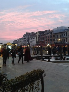 Sunset on our last night in Venice