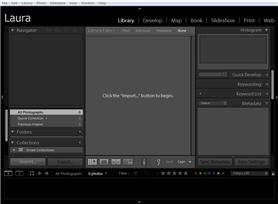 Lightroom catalog with no photos
