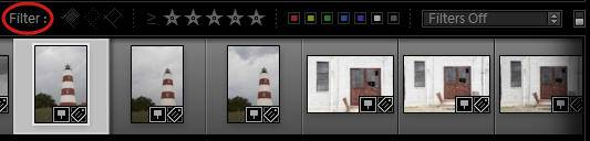Lightroom Filmstrip Filter Bar