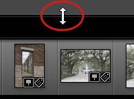 Change Lightroom Filmstrip Size