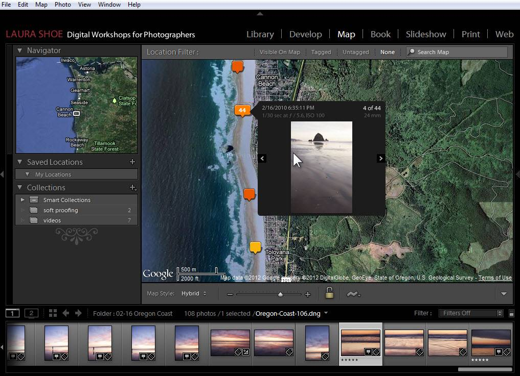 Lightroom Map Module