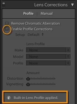 Lightroom - no lens profile for Olympus, Fuji, Sony, other