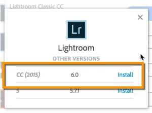 Choose Lightroom CC 2015