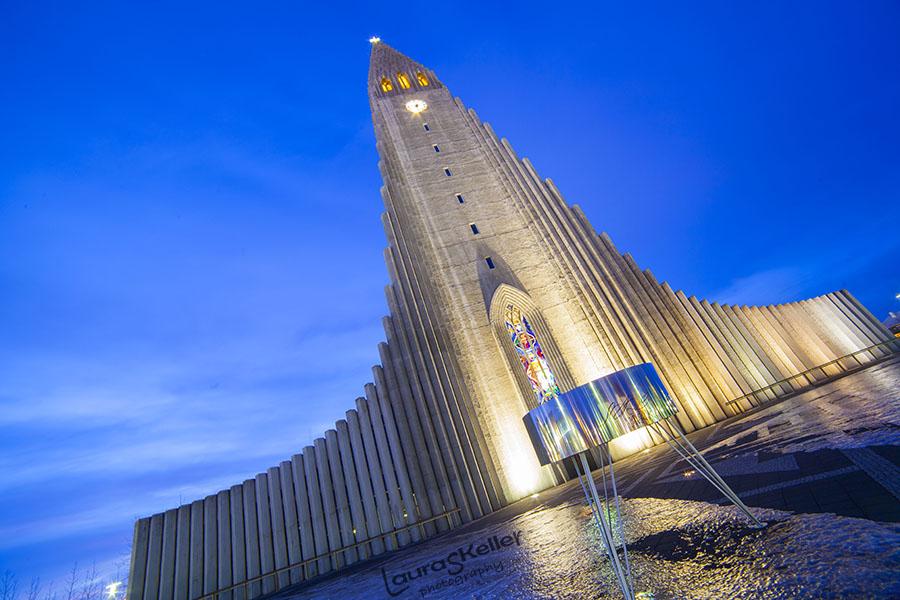 Iceland Series: Hallgrimskirkja at Night Time